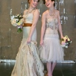 Deconstructed Wedding Dress and Bridesmaid Style | Erin Johnson Photography | Iron and Velvet Romantic Steampunk Wedding