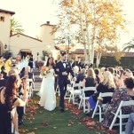 A Fall Aisle Lined with Leaves   Lukas and Suzy   Bright and Colorful Classic Fall Wedding
