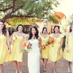 Bridesmaids in Sunny Yellow | Lukas and Suzy | Bright and Colorful Classic Fall Wedding