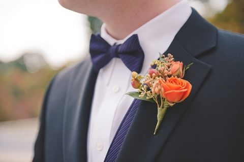 Classic Black Tie Grooms Style | Bit of Ivory Photography | Traditional Autumn Wedding in Eggplant and Orange