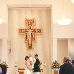 Catholic Wedding Ceremony | Bit of Ivory Photography | Traditional Autumn Wedding in Eggplant and Orange