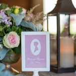 Classic Literature Inspired Table Numbers   J. Harper Photography   Elegant Farm Wedding in Pastels and Gold Glitter