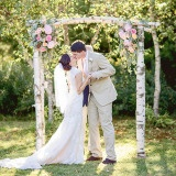 Elegant Farm Wedding in Pastels and Gold Glitter | J. Harper Photography