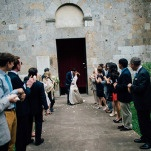 Tossing Petals After the Ceremony   Lelia Scarfiotti Photography   Enchanting Italian Destination Wedding at a Tuscan Villa!