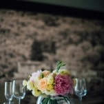 Peony and Rose Centerpieces for a Wine Cellar Reception | Lelia Scarfiotti Photography | Enchanting Italian Destination Wedding at a Tuscan Villa!
