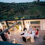 Open Air Reception on the Villa Terrace | Lelia Scarfiotti Photography | Enchanting Italian Destination Wedding at a Tuscan Villa!