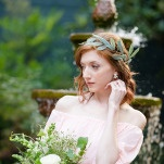 A Natural Olive Leaf Crown | Emily Chappell Photography | Bohemian Garden Wedding Inspired by Fine Art