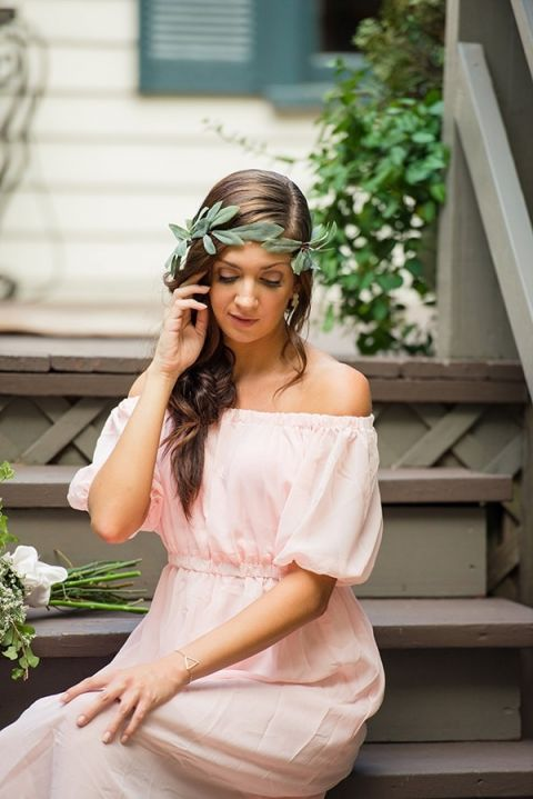 Simple and Romantic Bohemian Bridesmaid | Emily Chappell Photography | Bohemian Garden Wedding Inspired by Fine Art