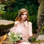 Ethereal Hidden Garden Bridesmaid | Emily Chappell Photography | Bohemian Garden Wedding Inspired by Fine Art
