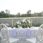 Romantic Bohemian Sweetheart Table | Ashley Cook Photography | Vintage Lace, Sunshine, and Lavender Fields Wedding Styled Shoot