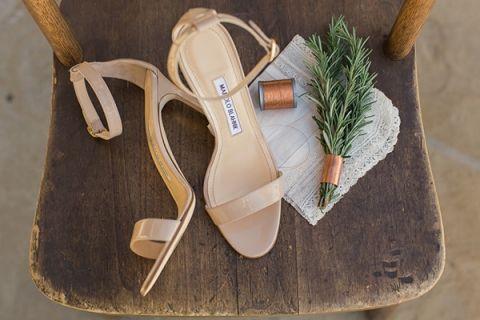Taupe Manolo Blahnik Wedding Shoes