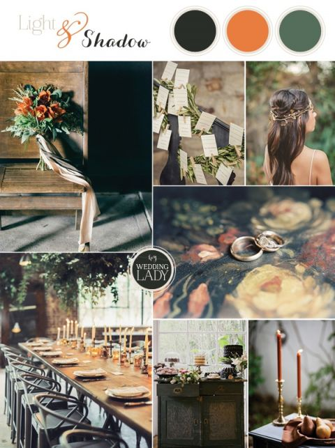 Light and Shadow - Still Life Inspired Fine Art Wedding Styling in Moody Winter Shades