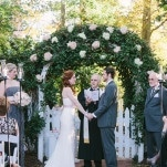 Romantic Floral Arch for a Garden Wedding Ceremony | Harper Noel Photography | Georgia in the Fall - Southern Garden Wedding