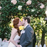 The Perfect Ceremony Kiss | Harper Noel Photography | Georgia in the Fall - Southern Garden Wedding