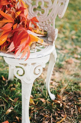 Vibrant Autumn Foliage | Bell Studio Photography | Bold and Colorful Fall Wedding in Burgundy, Orange, and Teal