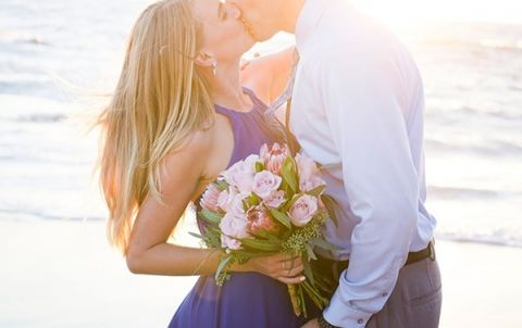 Cobalt Blue and Pink Styled Anniversary Session at the Beach! | Peterson Design and Photography