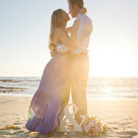 Cobalt Blue and Pink Styled Anniversary Session at the Beach!
