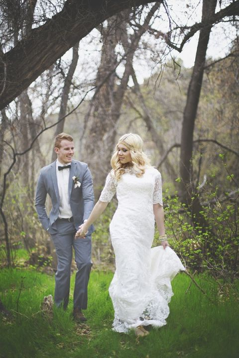 Romantic Forest Wedding Portraits | Cassandra Farley Photography | Winter Woodlands Wedding with Rich Bohemian Details and Luxe Jewel Tones