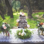 Lace and Floral Wedding Cake Table | Cassandra Farley Photography | Winter Woodlands Wedding with Rich Bohemian Details and Luxe Jewel Tones
