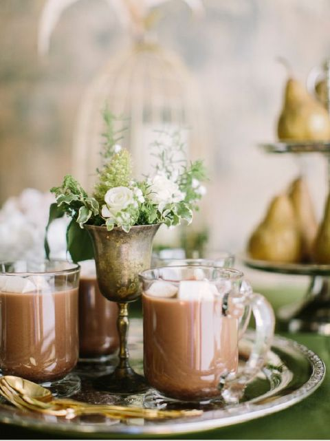Elegant Hot Chocolate Station for a Winter Wedding