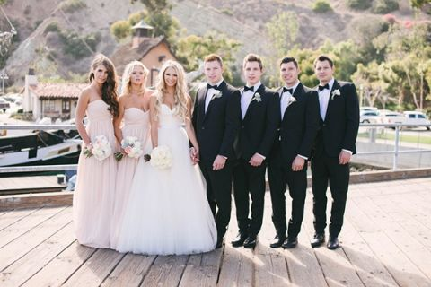Black tie coastal wedding with classic beach details hey wedding lady elegant blush and black wedding portraits vitaly m photography black tie coastal wedding with junglespirit Image collections