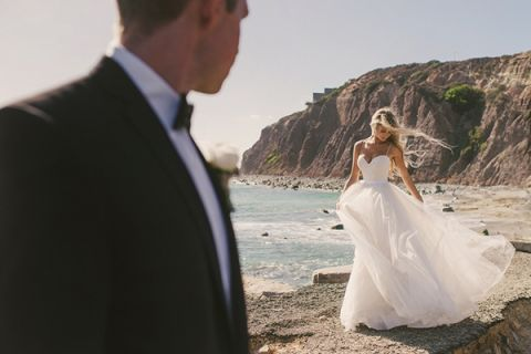 Glamorous Beach Wedding Portraits