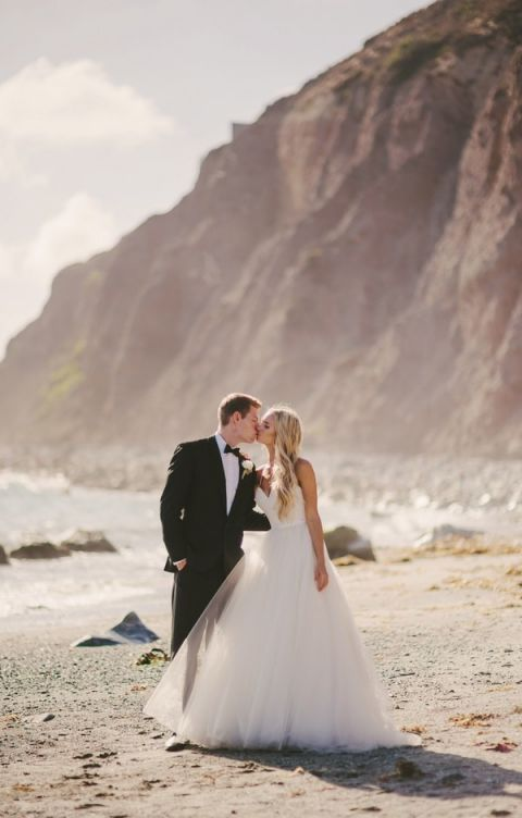 Glam Beach Wedding Portraits