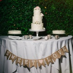 Sweet Love - Buttercream Wedding Cake Trio | Vitaly M Photography | Black Tie Coastal Wedding with Classic Beach Details