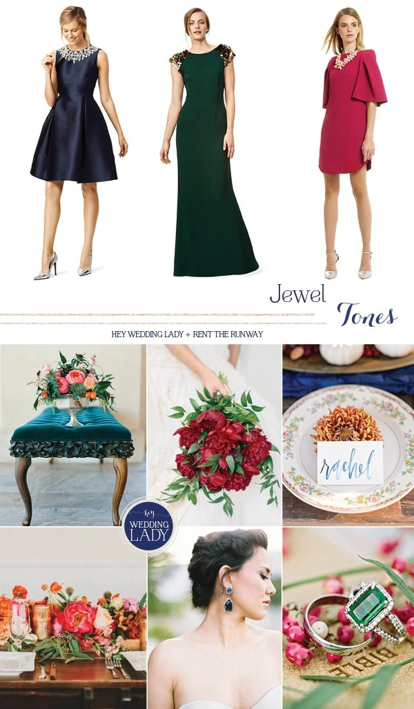 Vibrant Jewel Tone Designer Wedding and Holiday Style from Rent the Runway!