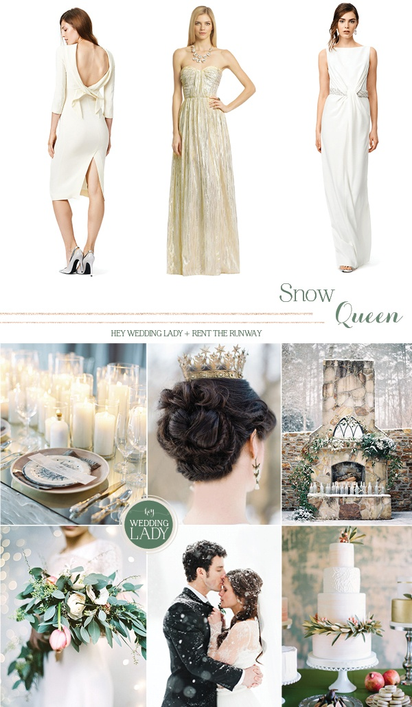 Snow Queen - Winter White Designer Wedding and Holiday Style from Rent the Runway!