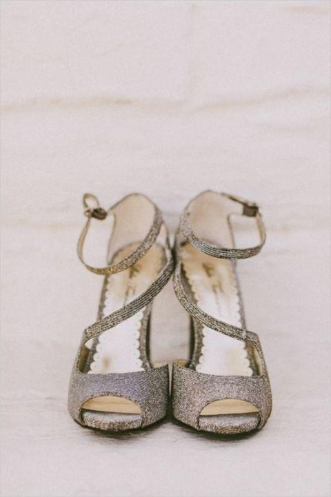 Silver Shoes Wedding 64 Fresh Metallic Peep Toe Wedding