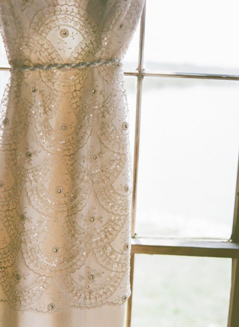 Beaded Scalloped Wedding Dress   Nicole Caudle Photography   Vintage Southern Charm at The Not Wedding Charleston!
