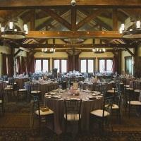 Mountain Lodge Wedding Reception | Janine Deanna Photography | Glamorous Pink and Gray Mountain Wedding with a Blush Wedding Dress