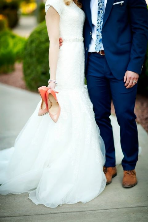 White And Navy Wedding Dress 14 Ideal Coral Wedding Shoes for