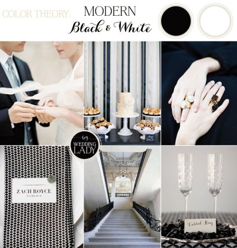 Modern Graphic Black and White Wedding Inspiration with a Mix of Patterns