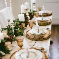 Rustic Farm Table with a Greenery Runner | Jacque Lynn Photography and Michelle Leo Events | Enchanting Woodland Wedding Shoot with Rustic Winter Details