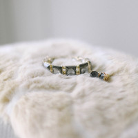 Wedding Day Jewelry on Vintage Furs | Jacque Lynn Photography and Michelle Leo Events | Enchanting Woodland Wedding Shoot with Rustic Winter Details