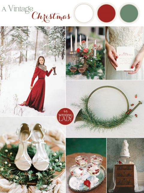 A Vintage Christmas Wedding with Traditional English Styling