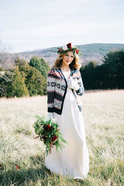 Sweater Wedding Dress 37 Good Knit Holiday Sweater over