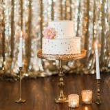 Sparkling Blush, Champagne, and Gold Retro Meets Modern Wedding Inspiration for New Years! | Megan Robinson Photography