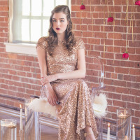 Sequins and Stripes for an Industrial Glam Loft Wedding