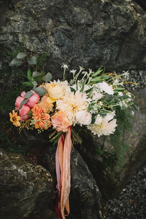 Romantic Vintage Botanical Wedding Shoot at a Rustic Winery | Hey