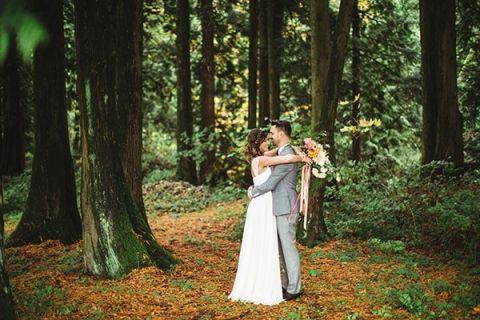 Elegant Woodland Wedding Portraits