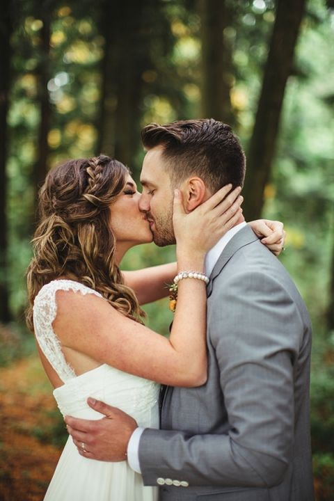 Sweet and Simple Woodsy Wedding Portraits
