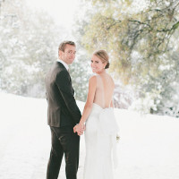 Black and White Winter Wedding | onelove photography | Classic Winter Elegance for a Rustic Vintage Barn Wedding