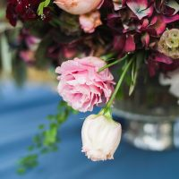 Blush and Burgundy Floral Design | Samantha McFarlen Photography | Late Winter Sun - Sparkling Silver and Berry Wedding Shoot