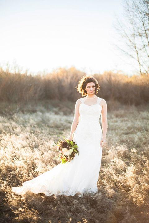Magic Hour Bridal Portraits   Samantha McFarlen Photography   Late Winter Sun - Sparkling Silver and Berry Wedding Shoot