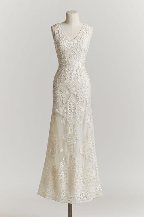 Intricate Ivory Embroidery | Alhambra Wedding Dress | BHLDN Bridal Spring 2015