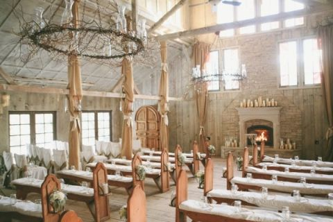 Rustic Gold Country Wedding Chapel