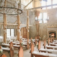 Rustic Gold Country Wedding ChapelEnchanted Candlelight Wedding Ceremony in a Rustic Country Chapel | onelove photography | Classic Winter Elegance for a Rustic Vintage Barn Wedding